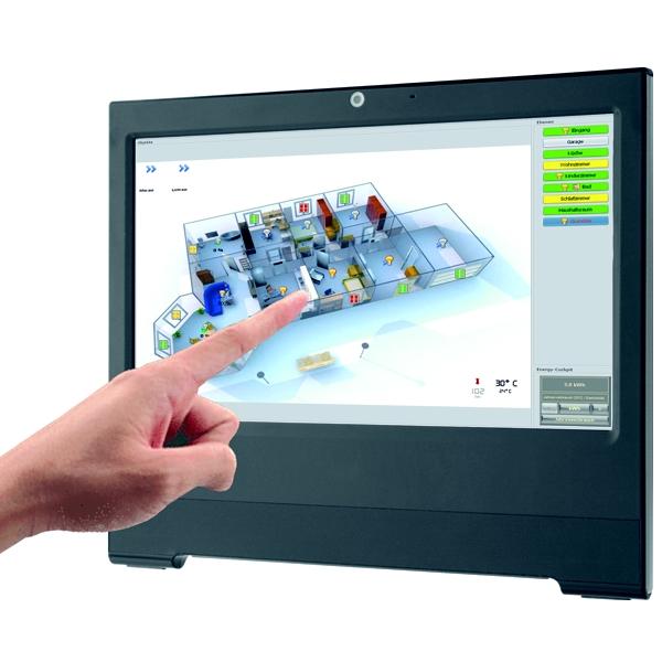 elektrohandel langehein eltako smart home touch pc mit gfvs 3 0 weiss. Black Bedroom Furniture Sets. Home Design Ideas